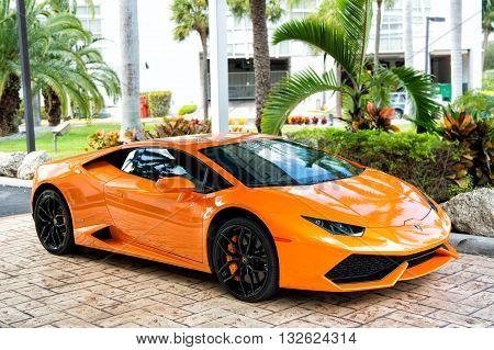 Orange Sport Car Lamborghini Aventador