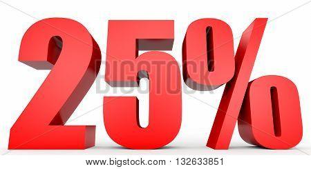 Discount 25 Percent Off. 3D Illustration.