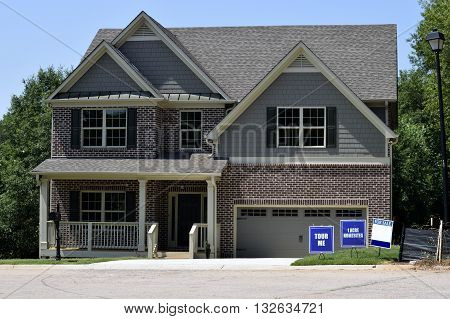 New luxury home construction at Georgia, USA.