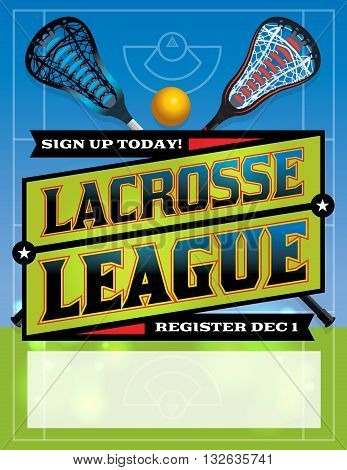Lacrosse League Template Design