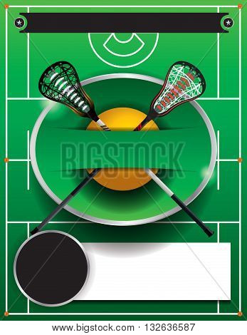 A flyer template for a lacrosse event. Vector EPS 10 available. poster