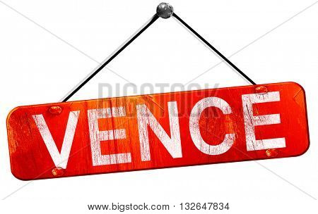 vence, 3D rendering, a red hanging sign