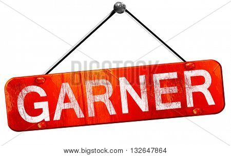 garner, 3D rendering, a red hanging sign
