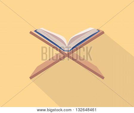 holy quran koran al-quran islam religion vector graphic illustration