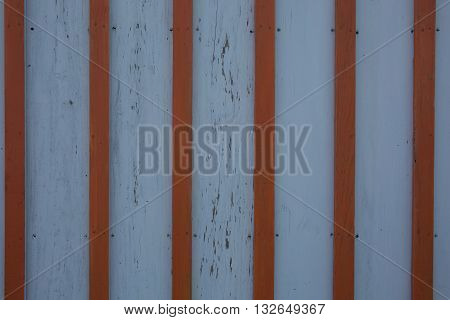 Aged Pannel Blue Wood Background With Red Stripes