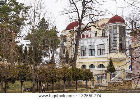 Kislovodsk, Russia - 28 February, Garden at the house, 28 February, 2016. Resort zone Mineral Waters, Krasnodar region.