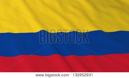 Colombian Flag HD Background - Flag of Colombia 3D Illustration poster