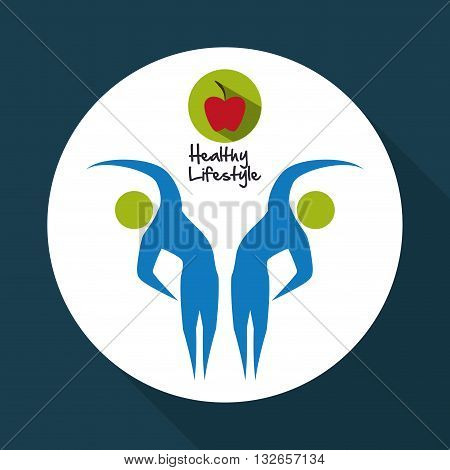 Healhy Lifestyle concept with icon design, vector illustration 10 eps graphic.