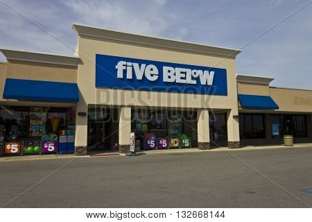 Indianapolis - Circa June 2016: Five Below Retail Store. Five Below is a chain that sells products that cost up to $5 III