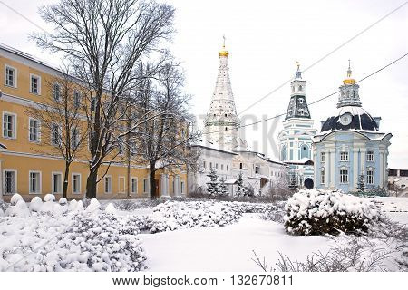 Trinity Lavra of St. Sergius largest friary of the Russian orthodoxy church center of educational and publishing activity. Temple on territory of monastery