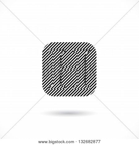 Creative H-letter icon abstract logo design vector template.H-alphabet symbol.Corporate business and education creative logotype symbol. Vector illustration