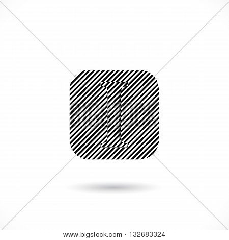 Creative I-letter icon abstract logo design vector template.I-alphabet symbol.Corporate business and education creative logotype symbol. Vector illustration