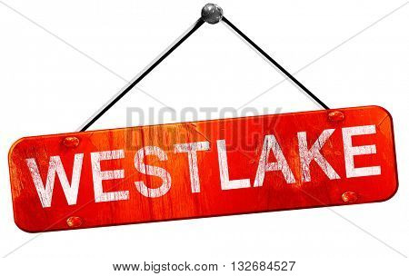 westlake, 3D rendering, a red hanging sign