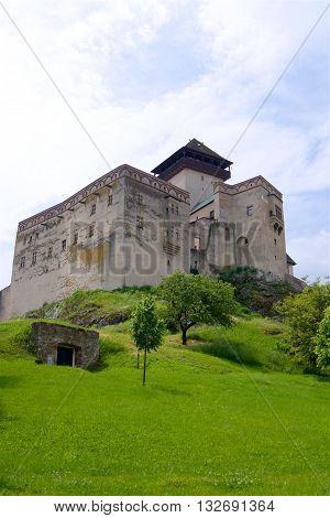 Trencin castle in Summer time season Slovakia