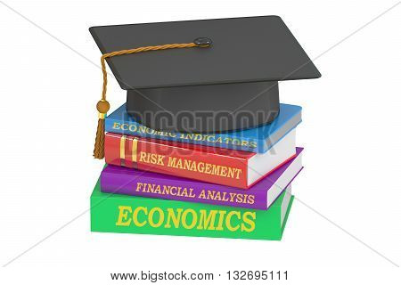 Economics Education concept 3D rendering isolated on white background