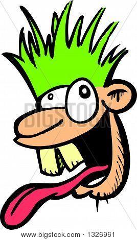 Crazy Guy Cartoon