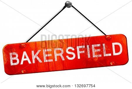 bakersfield, 3D rendering, a red hanging sign
