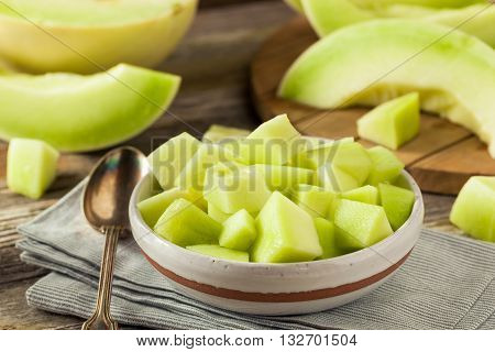 Green Organic Honeydew Melon