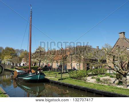 the City of enkhuizen in the netherlands