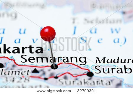 Semarang pinned on a map of Indonesia