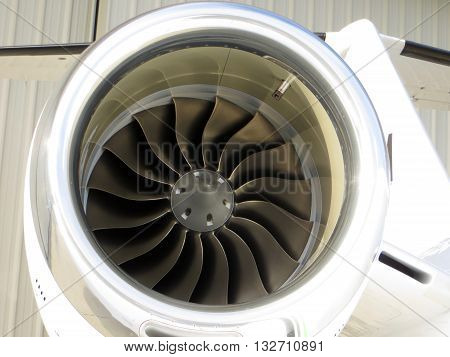 Executive business jet engine turbine intake blades