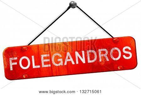 Folegandros, 3D rendering, a red hanging sign