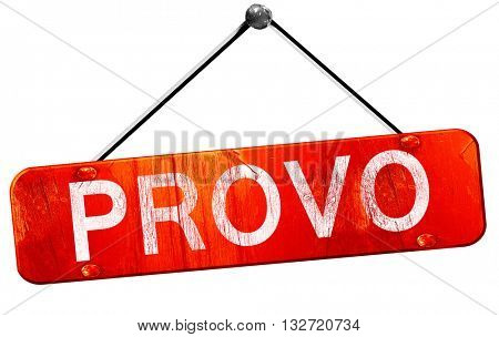 provo, 3D rendering, a red hanging sign