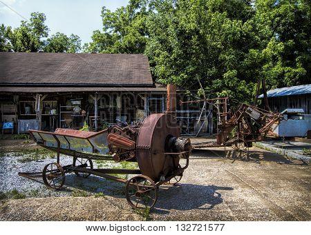 Rusty Old Vintage Country Farm Equipment Junkyard