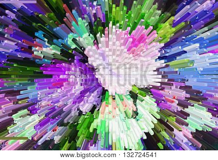 Color texture background abstract color extrusion blocks Abstract colorful 3D extrusion background flowers floral pattern
