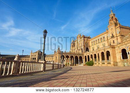 Given Spain's Square, located in the Parque Maria Luisa, was the  venue for the Latin American Exhibition of 1929, Seville, Andalucia, Spain