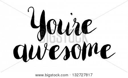 You're awesome concept