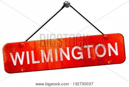 wilmington, 3D rendering, a red hanging sign