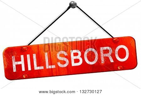 hillsboro, 3D rendering, a red hanging sign