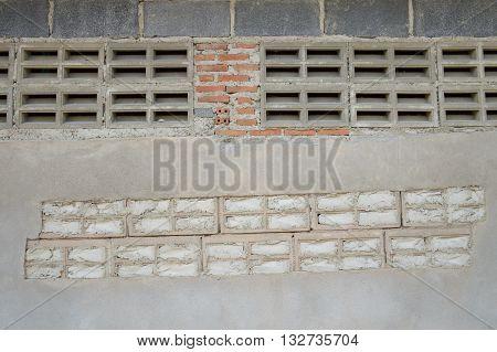 close up dry old brick wall texture