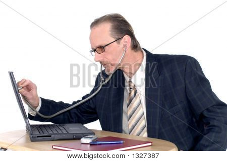 Businessman, Computer Doctor