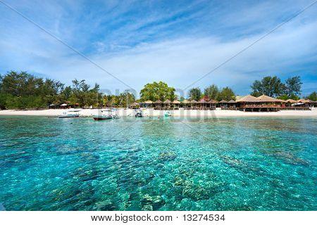 Beautiful Sea At Gili Meno, Indonesia.