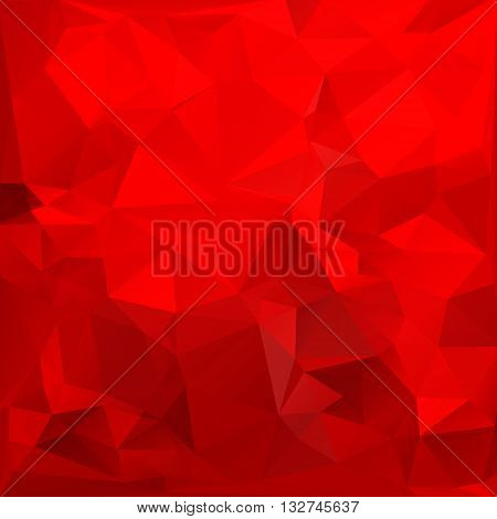 Red triangle pattern background. Colorful bright triangle polygon background or vector frame. Abstract Geometrical Backdrop. Geometric design for business presentations or web template