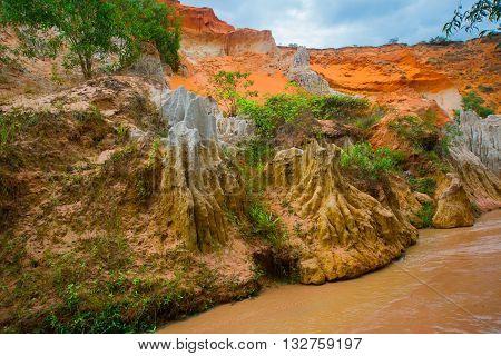 Fairy Stream,suoi Tien, Mui Ne, Vietnam. One Of The Tourist Attractions In Mui Ne.beautiful Mountain