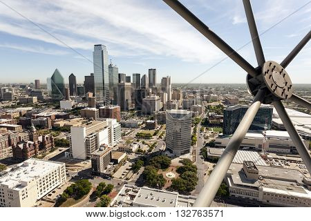 Skyline of Dallas downtown. Texas United States
