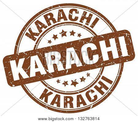Karachi Brown Grunge Round Vintage Rubber Stamp.karachi Stamp.karachi Round Stamp.karachi Grunge Sta