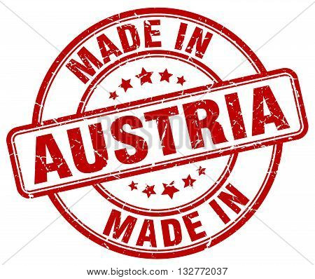 made in Austria red round vintage stamp.Austria stamp.Austria seal.Austria tag.Austria.Austria sign.Austria.Austria label.stamp.made.in.made in.