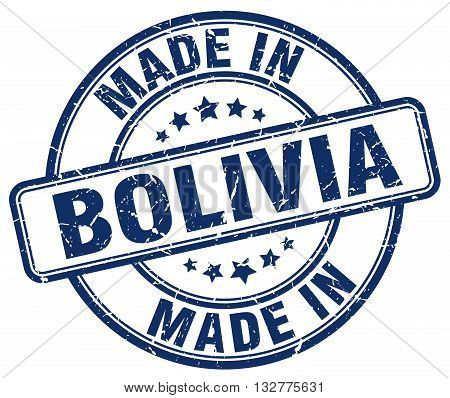 made in Bolivia blue round vintage stamp.Bolivia stamp.Bolivia seal.Bolivia tag.Bolivia.Bolivia sign.Bolivia.Bolivia label.stamp.made.in.made in.