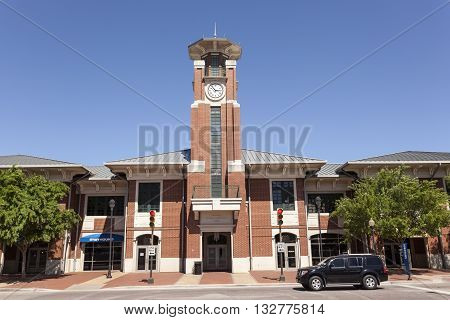 FORT WORTH USA - APR 6: The Fort Worth intermodal transportation center building. April 6 2016 in Fort Worth Texas USA