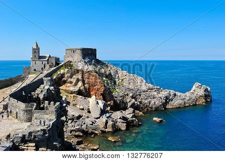 The promontory of Portovenere with the