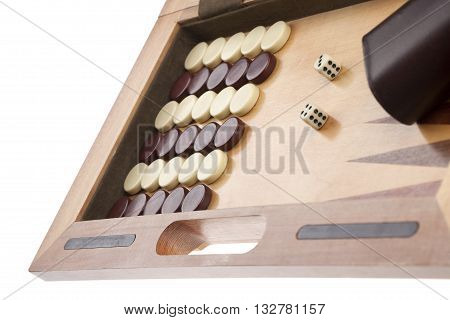 backgammon game isolated on a white background