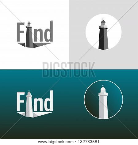 Lighthouse guide background for on line buisness