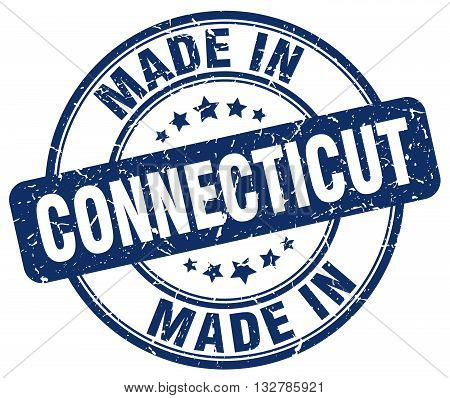 made in Connecticut blue round vintage stamp.Connecticut stamp.Connecticut seal.Connecticut tag.Connecticut.Connecticut sign.Connecticut.Connecticut label.stamp.made.in.made in.