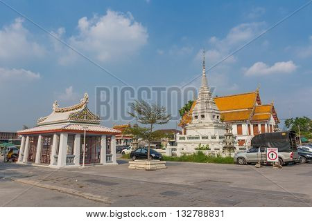 BANGKOK THAILAND 7 MAY 2016 : Wat Kalayanamitr in Bangkok city it was established by Chaophraya Nikornbadin and King Rama II named the temple