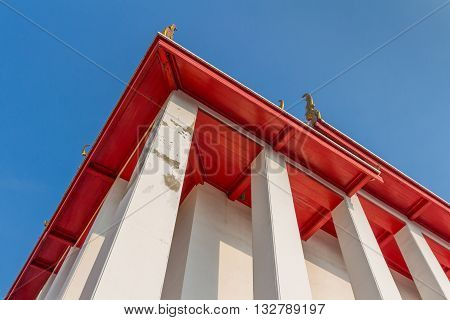 Roof of temple of Kalayanamitr temple from below