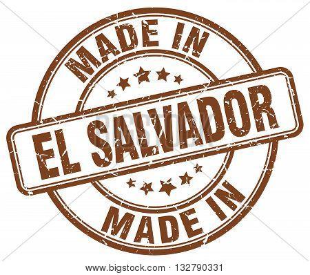 made in El Salvador brown round vintage stamp.El Salvador stamp.El Salvador seal.El Salvador tag.El Salvador.El Salvador sign.El.Salvador.El Salvador label.stamp.made.in.made in.